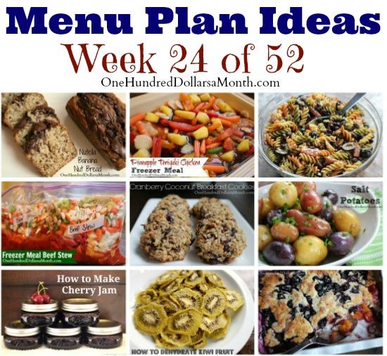 Weekly Meal Plan – Menu Plan Ideas Week 24 of 52