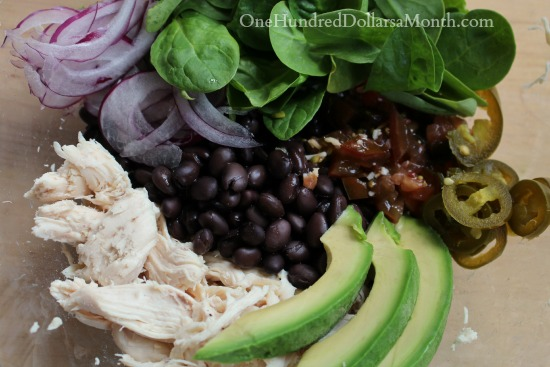 Spicy Black Bean and Avocado Chicken Wraps
