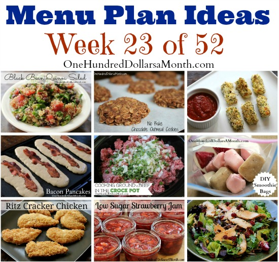 Weekly Meal Plan – Menu Plan Ideas Week 23 of 52