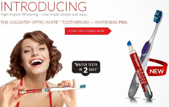 Colgate Optic White Toothbrush and Pen  coupon