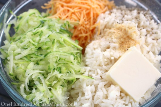 Easy Cheesy Zucchini Rice