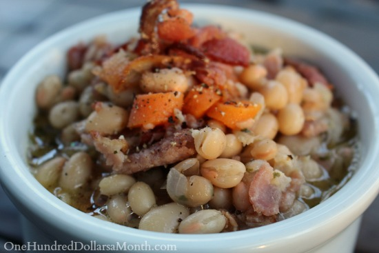 Hearty White Bean Stew with Bacon
