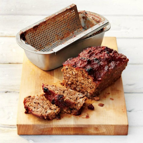 Steel Grill Perforated Meatloaf Pan