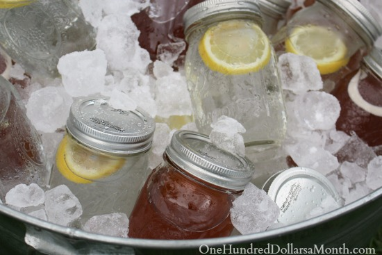 canning jar glasses