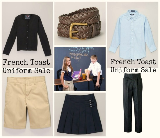 deals on french toast uniforms