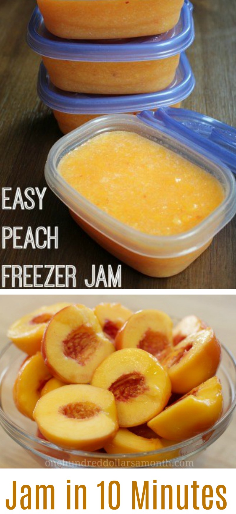 Fast and Easy Peach Freezer Jam