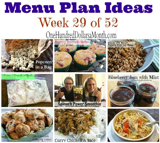 Weekly Meal Plan – Menu Plan Ideas Week 29 of 52