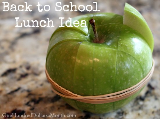 Back to School Lunch Ideas – How to Prevent Apple Slices from Browning