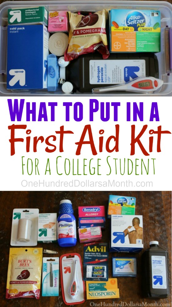 Diy First Aid Kit For College Students One Hundred