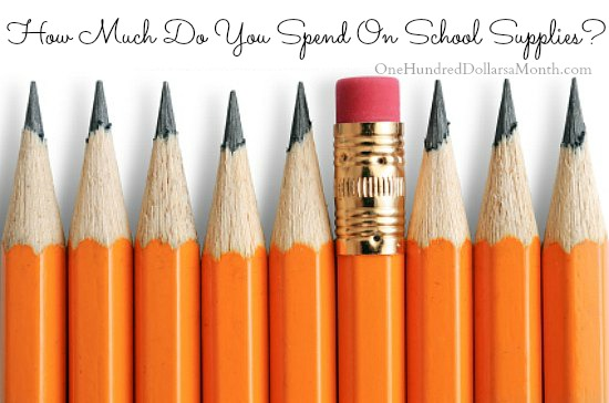 How Much Do You Spend On School Supplies?