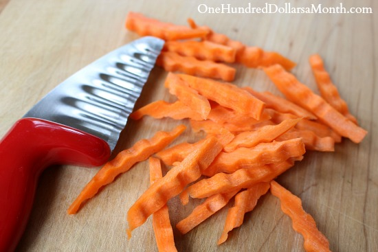 fun way top cut carrots bento