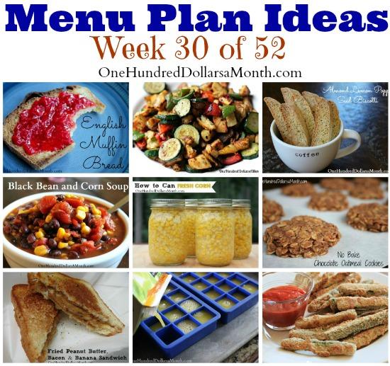 Weekly Meal Plan – Menu Plan Ideas Week 30 of 52