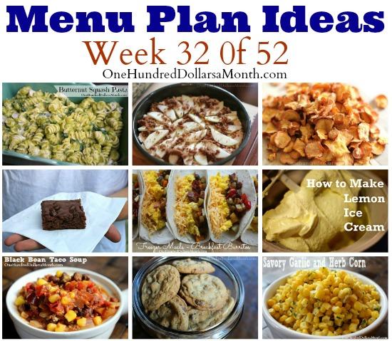Weekly Meal Plan – Menu Plan Ideas Week 32 of 52