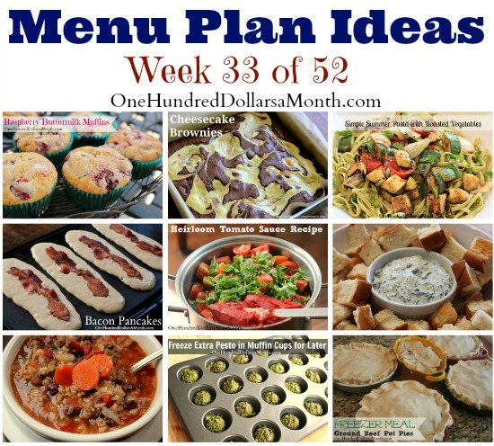 Weekly Meal Plan – Menu Plan Ideas Week 33 of 52