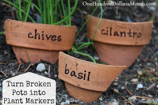 turn-broken-pots-into-plant-markers-