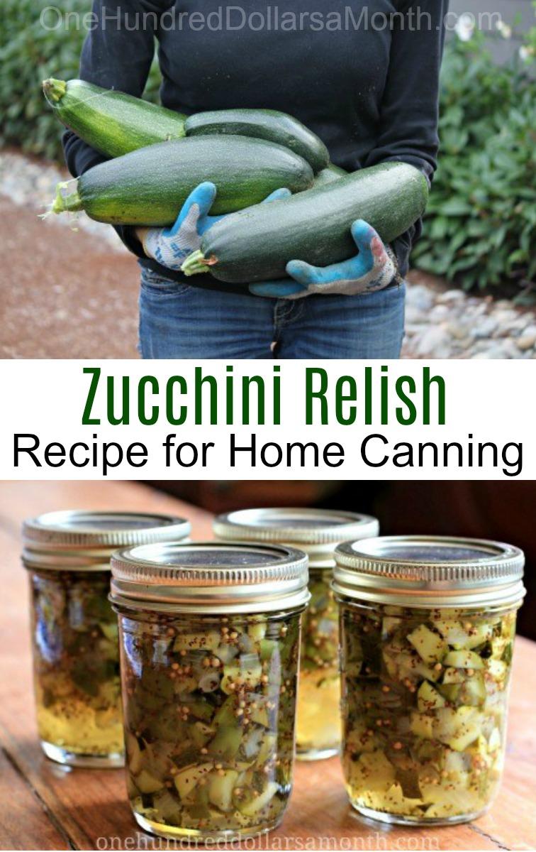 Canning 101 – How To Make Zucchini Relish