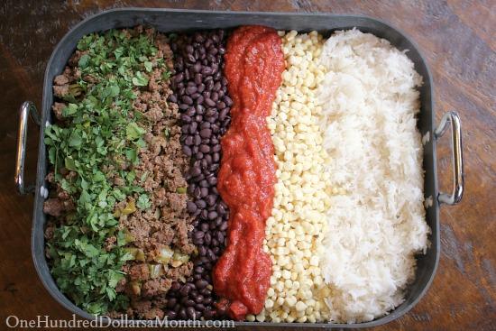 Ground Beef Freezer Meal – Taco Casserole