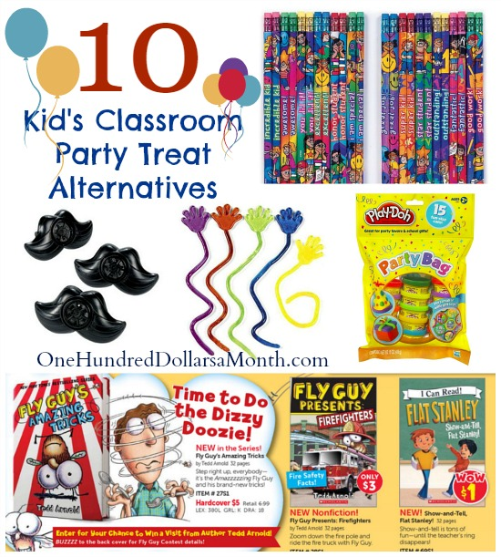 Kid's Classroom Party Treat Alternatives