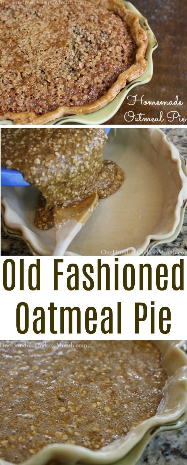 Homemade Oatmeal Pie
