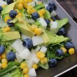 Roasted Corn Salad with Blueberries, Jicama and Avocado