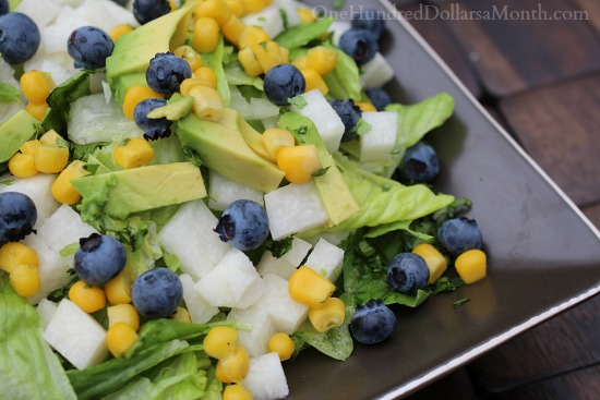 Roasted Corn Salad with Blueberries, Jicama & Avocado