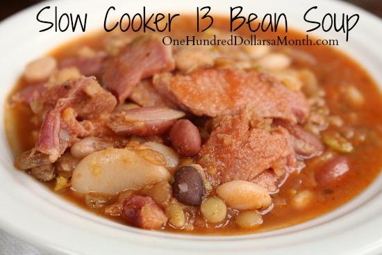 Slow-Cooker-13-Bean-Soup-Recipe-
