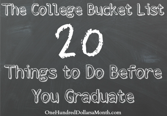 The College Bucket List – 20 Things to Do Before You Graduate