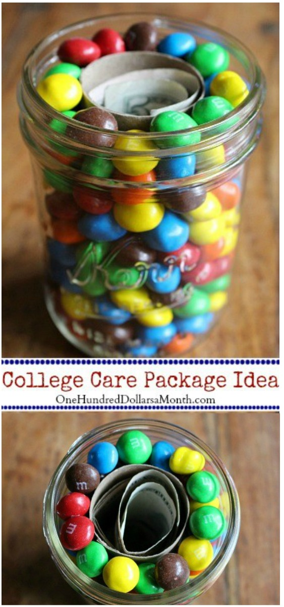 Care Packages for College Students – Money and M&M's