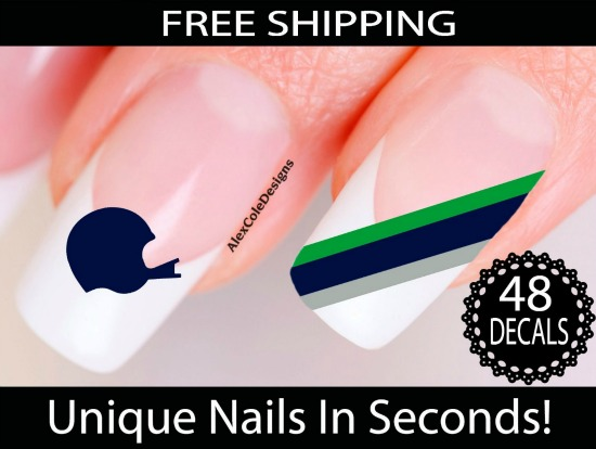 football nail stickers