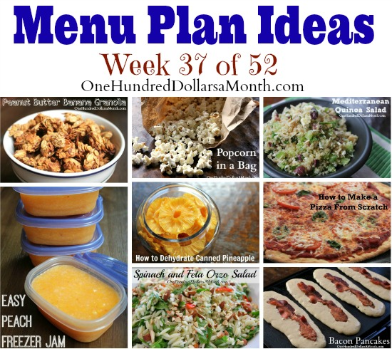 Weekly Meal Plan – Menu Plan Ideas Week 37 of 52