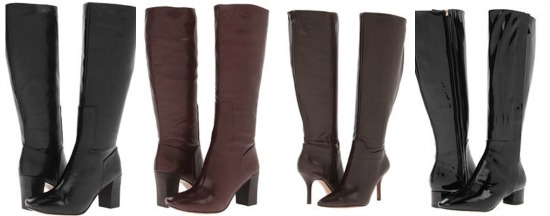 tall brown black leather boots