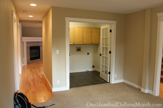 DIY laundry room makeover pictures