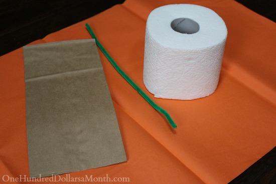 Halloween Craft – Toilet Paper Pumpkin