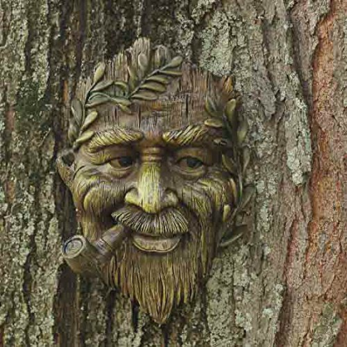 Tree Face Spirit with Pipe Plaque