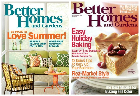 better homes and garden magazine