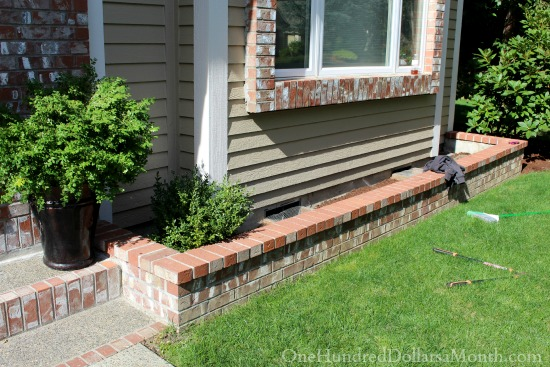 brick window box