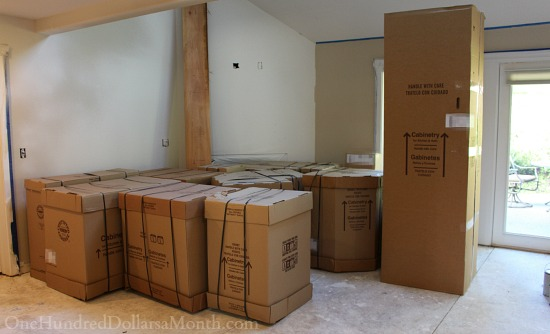 cabinets in boxes