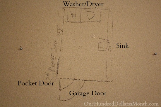 diy laundry room floor plan