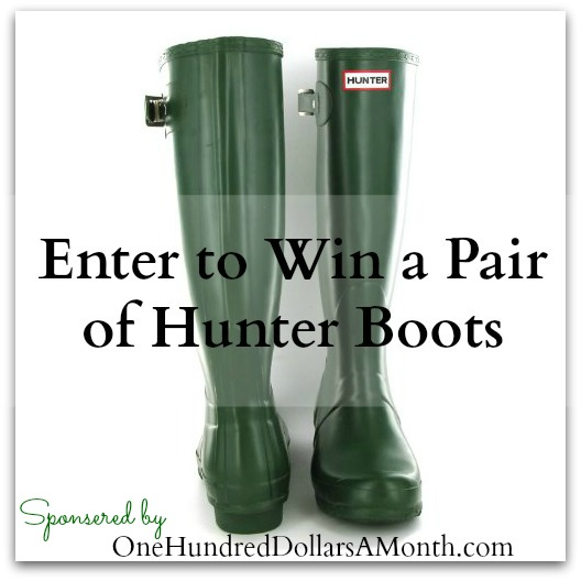 green-hunter-boots giveaway