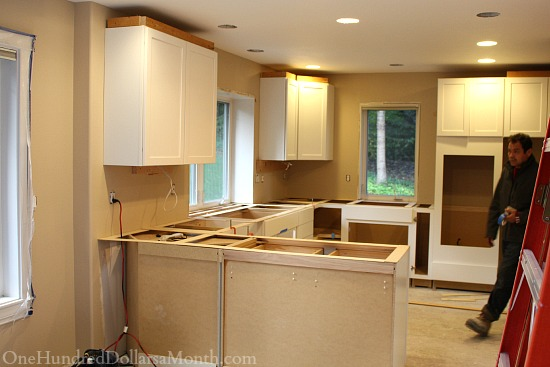 Mavis Remodel Blog Day 24 What Is The Best Counter Top For White Cabinets One Hundred