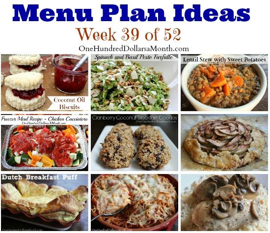 Weekly Meal Plan – Menu Plan Ideas Week 39 of 52