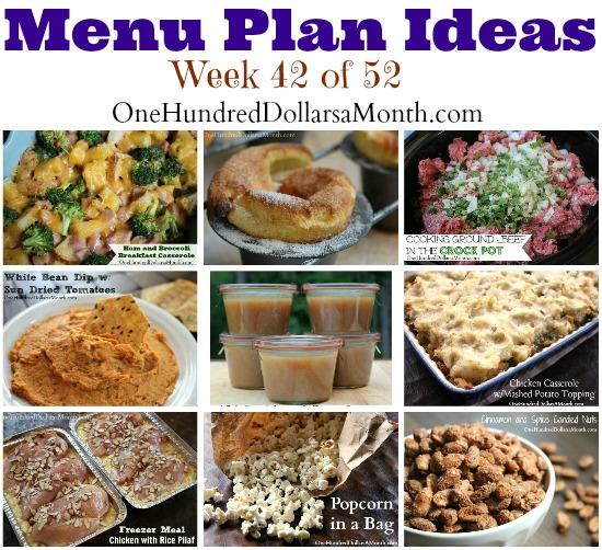 Weekly Meal Plan – Menu Plan Ideas Week 42 of 52