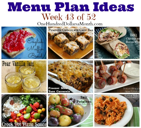 Weekly Meal Plan – Menu Plan Ideas Week 43 of 52