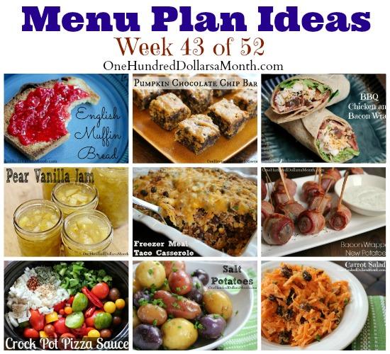 Weekly Meal Plan – Menu Plan Ideas Week 43 of 52