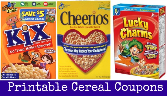 printable cereal coupons