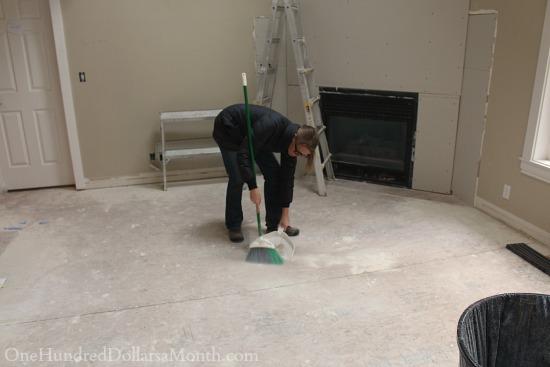 sweeping subfloor