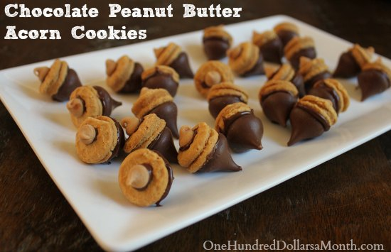 ... Chocolate Peanut Butter Acorn Cookies ? Check out my Thanksgiving