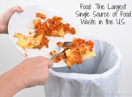 Food The Largest Single Source of Food Waste in the U.S.