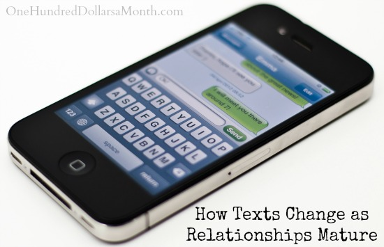 How Texts Change as Relationships Mature