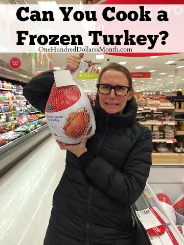 how to cook a frozen turkey faster